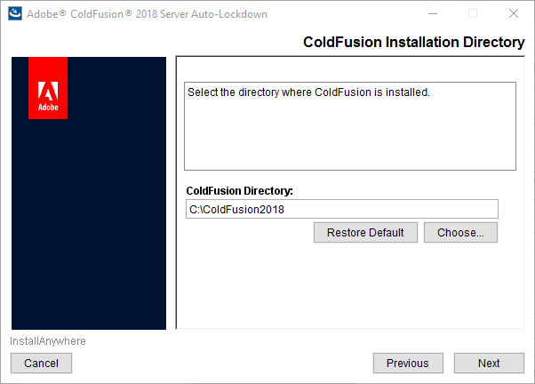 ColdFusion installation directory
