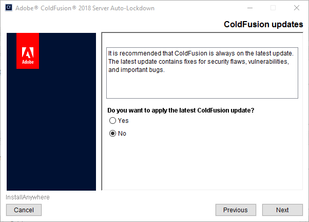 ColdFusion latest updates