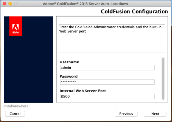 ColdFusion configuration