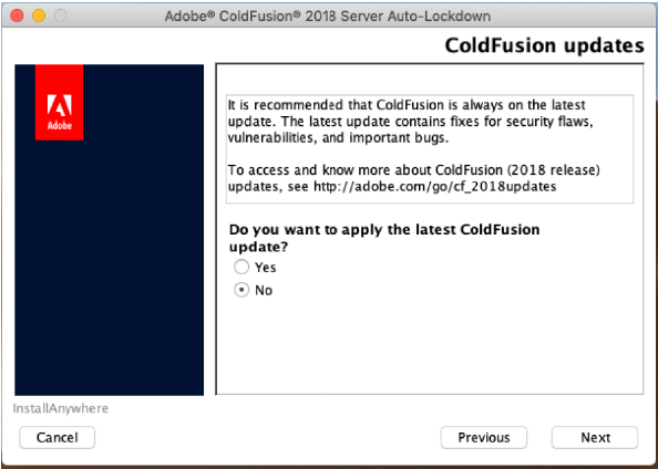 ColdFusion updates