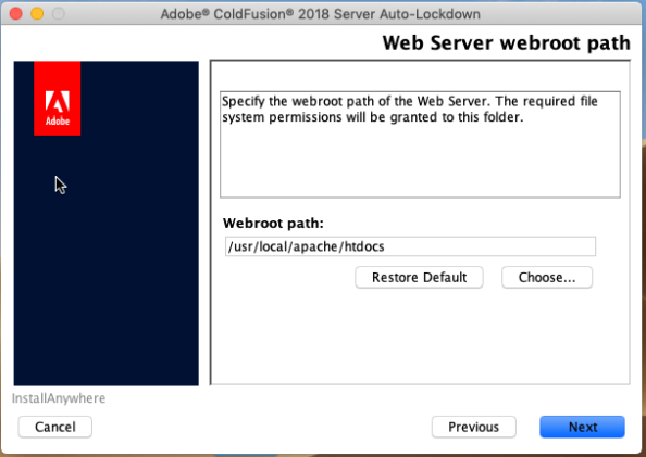 Web Server webroot path