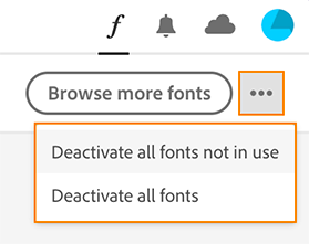 Deactivate fonts not in use