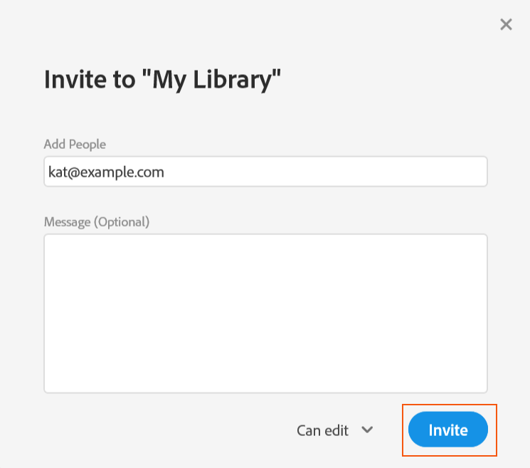 Share your library and invite collaborators