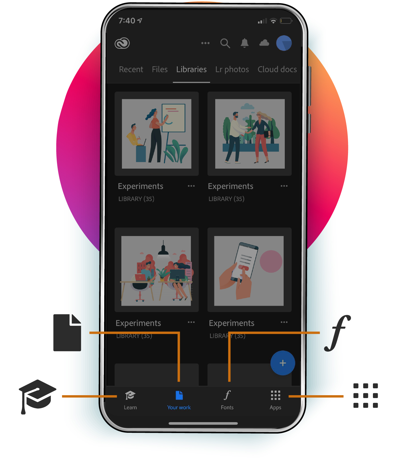 Creative Cloud mobile app