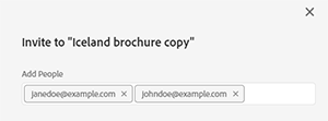 Add the email addresses of your collaborators