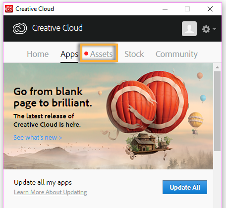 Creative Cloud Sync update