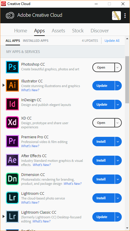 adobe creative cloud desktop app download