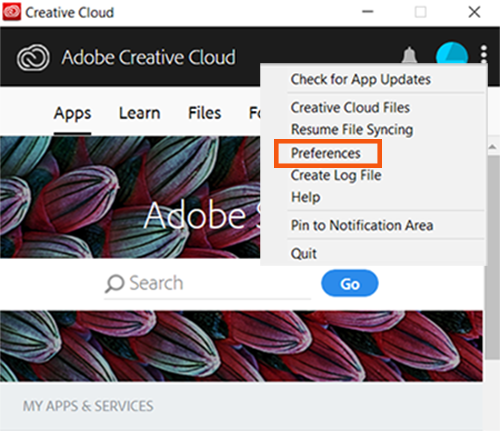 Use the Creative Cloud desktop app to manage your apps and