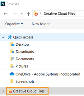Creative Cloud files folder