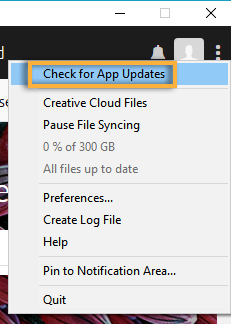 Choose Check for App Updates