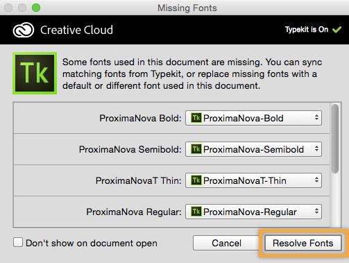 Resolve missing fonts with typekit | adobe creative cloud tutorials.
