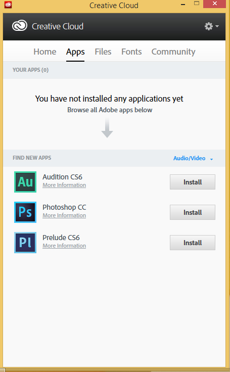 App Creative Cloud per desktop
