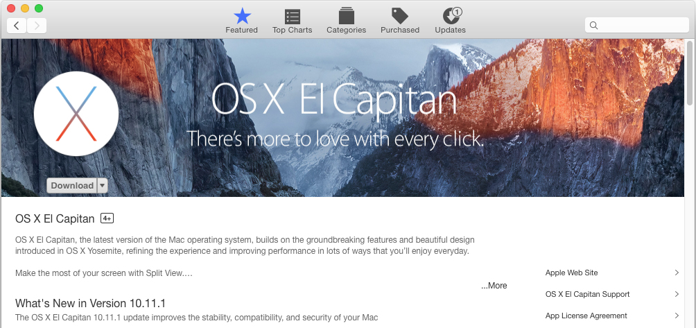 Upgrade to Mac OS X El Capitan