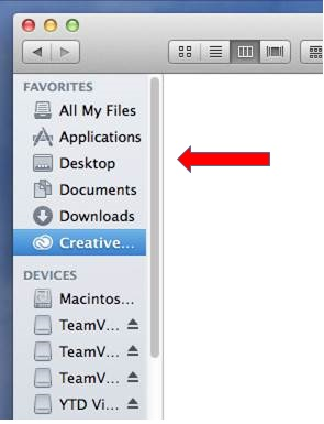 Select links to Creative Cloud files folder