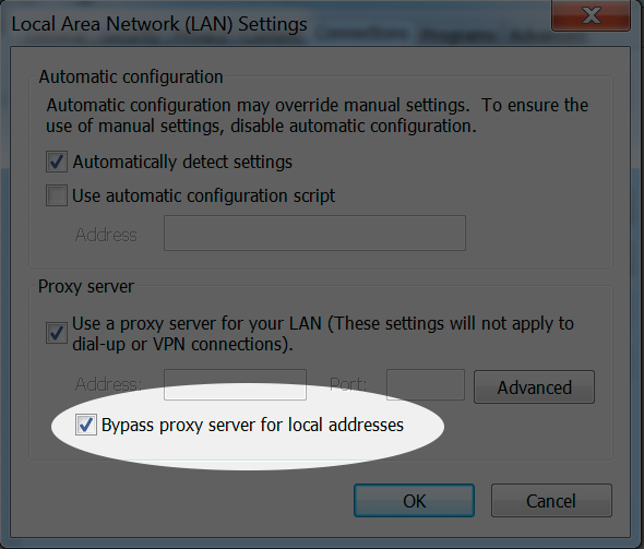 Configure your proxy on Win 7 to work with Libraries - Step 4