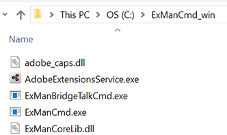 Extract ExManCmd  files from the downloaded ZIP file