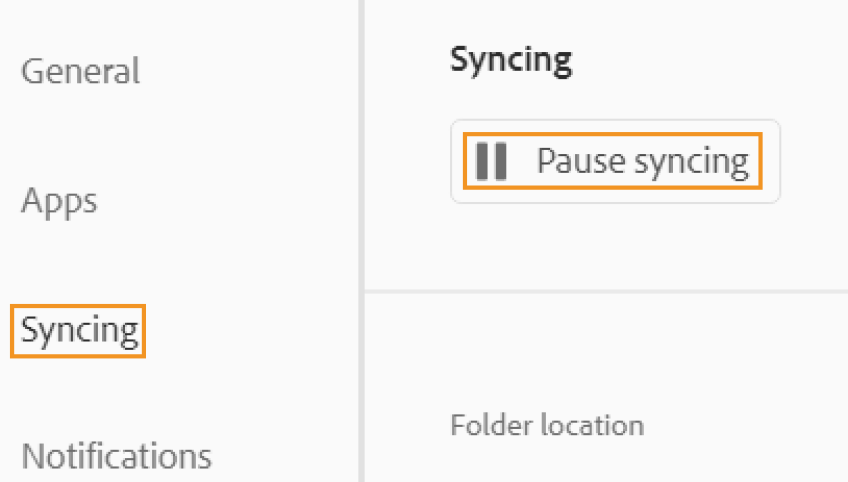 "Click ""Syncing"" in the sidebar"
