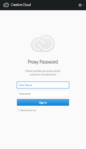 Proxy password