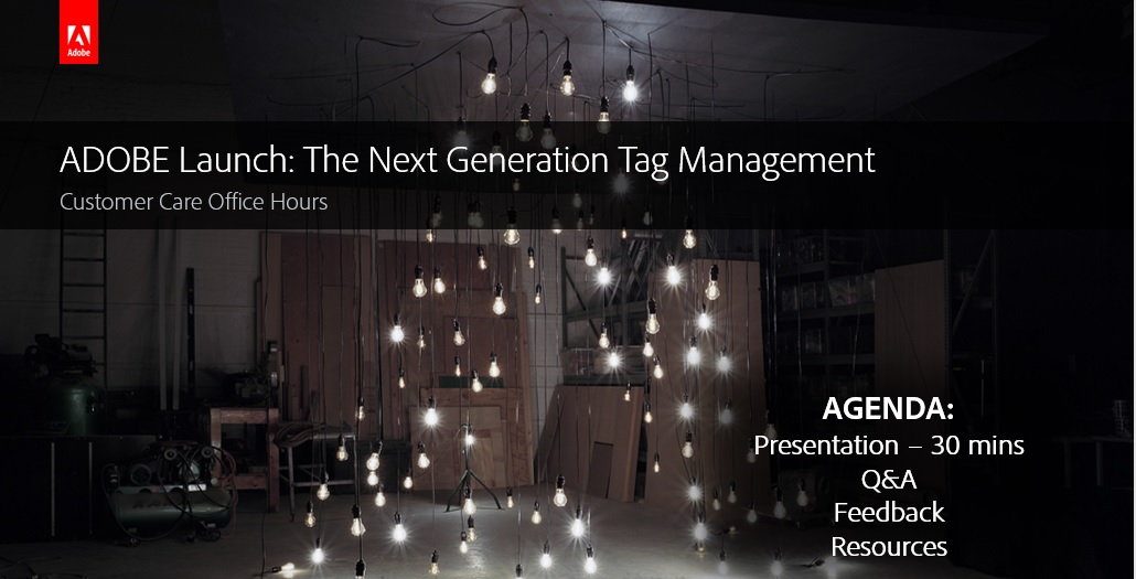 Adobe Analytics - Adobe Launch The Next Generation Tag Management