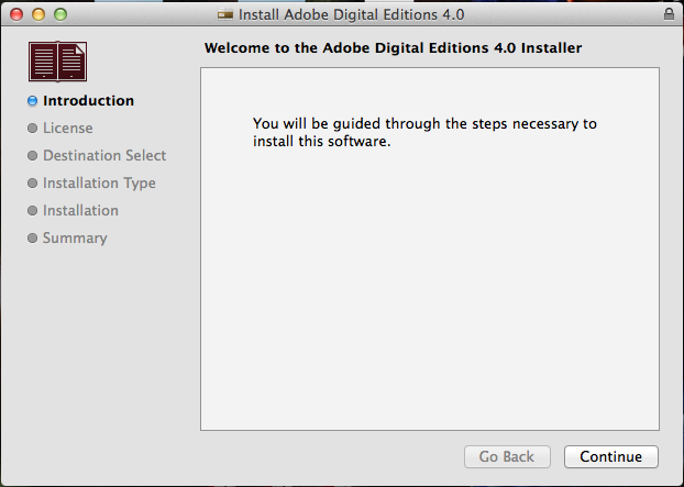 How to install Adobe Digital Editions 4 0 on Mac OS X