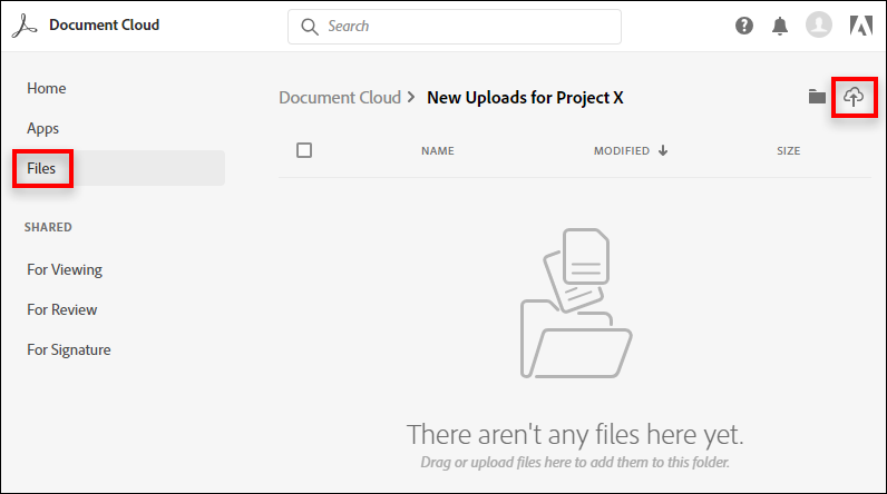 Upload files in a folder