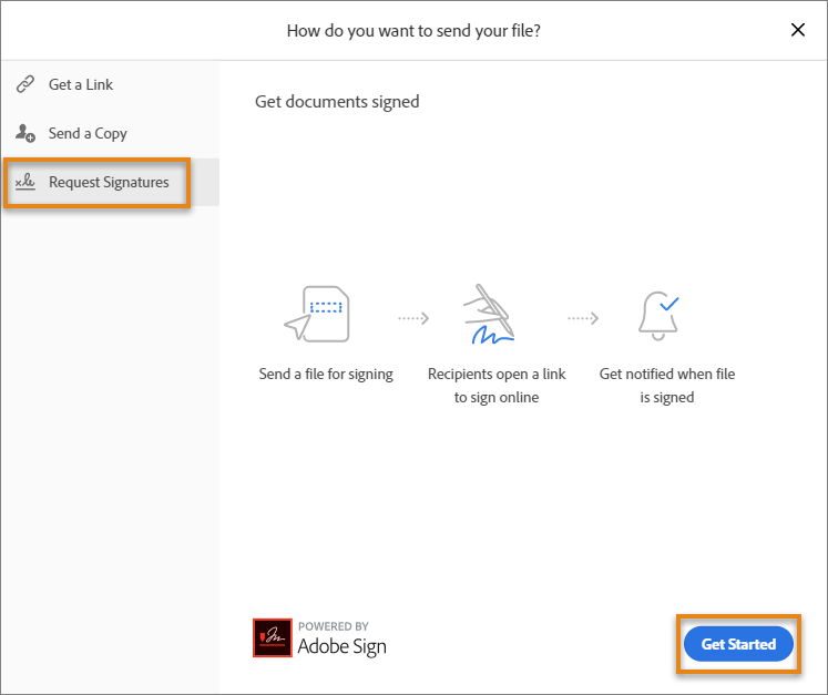 Send the document to get signatures from others