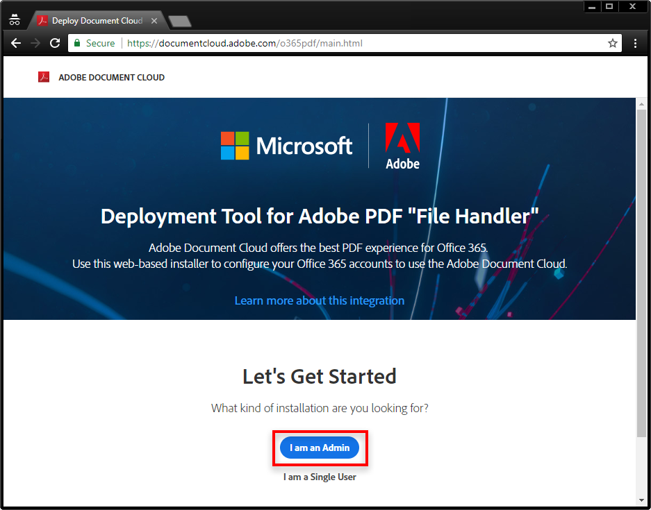 Deploy Adobe PDF file handler for SharePoint and OneDrive