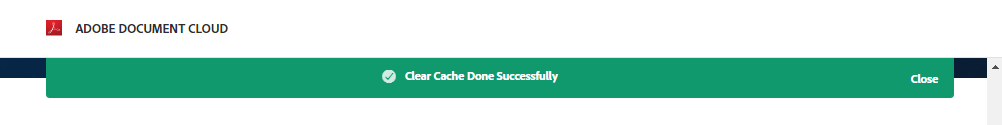 Clear cache successful