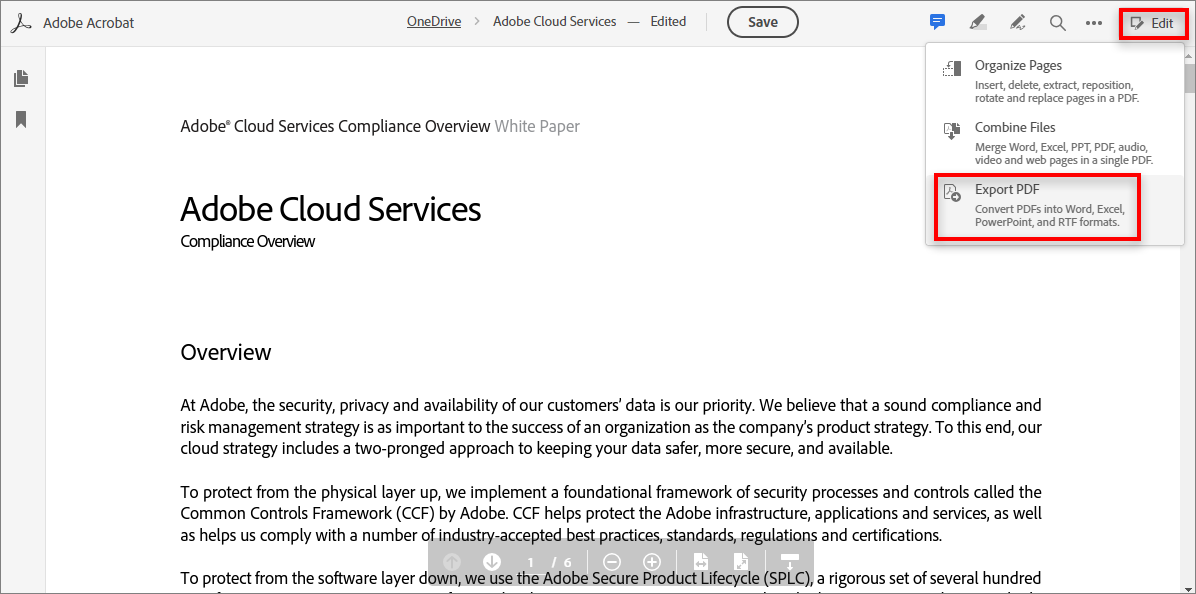 Using Adobe Document Cloud for SharePoint and OneDrive