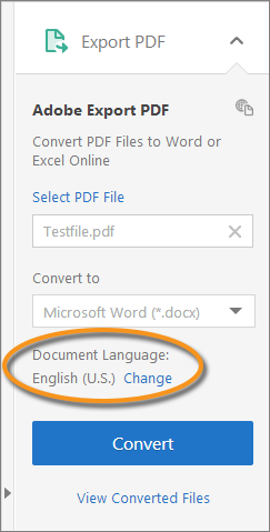 Export PDF from Acrobat Reader DC