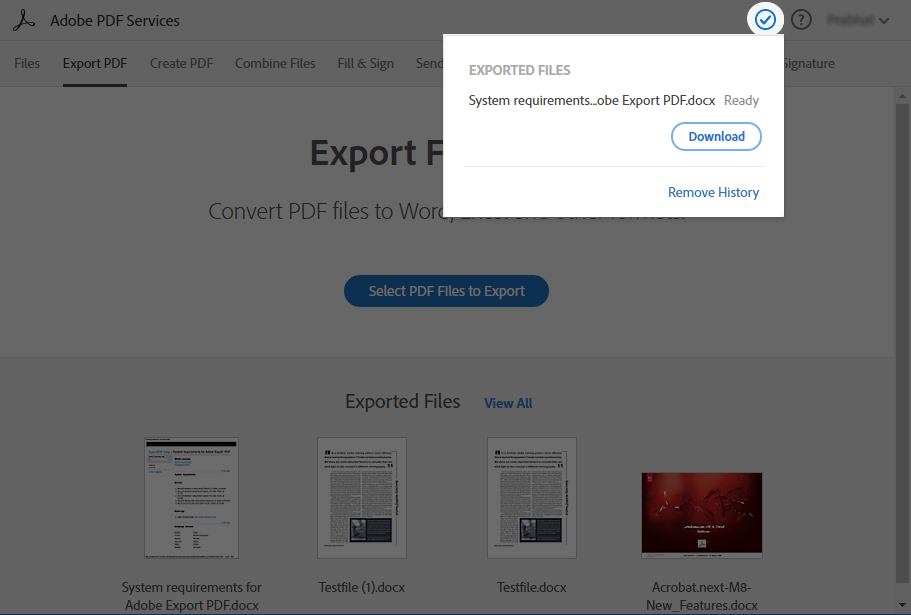 download-exported-file
