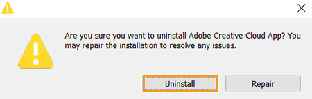 Uninstall the Creative Cloud desktop app