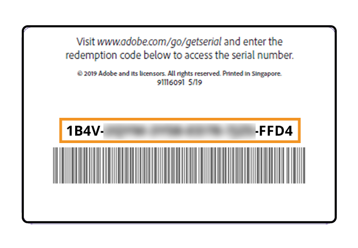 Learn how to use Adobe redemption codes and product codes