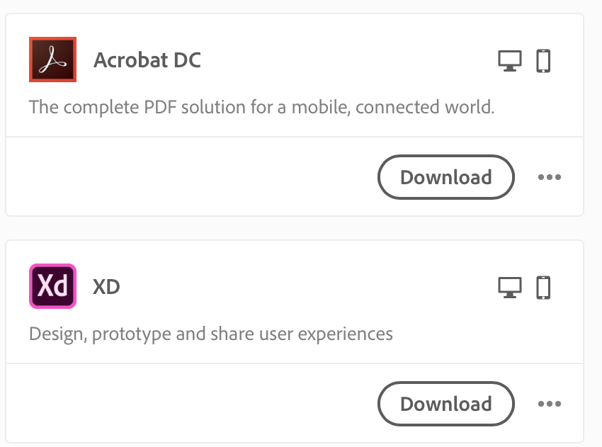 Download a Creative Cloud app