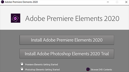 Install Adobe Premiere Elements 2020