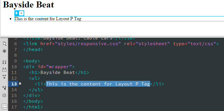 How to make a website in Dreamweaver part 2, add HTML content