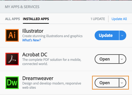 Open Dreamweaver