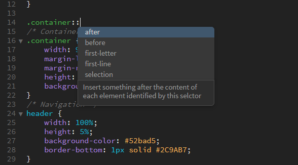 Code hinting and code completion