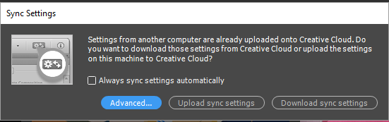 Sync Settings. Sync Settings Now.