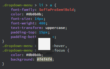 Color preview in Code view
