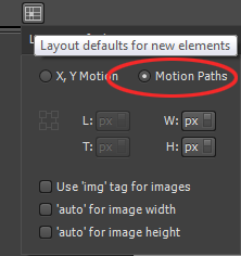 Using Motion Paths as the default for new elements