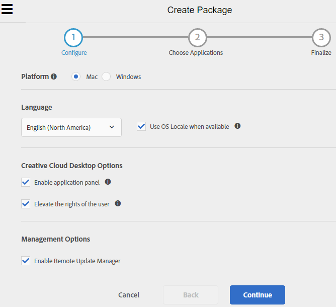 create-package-configure