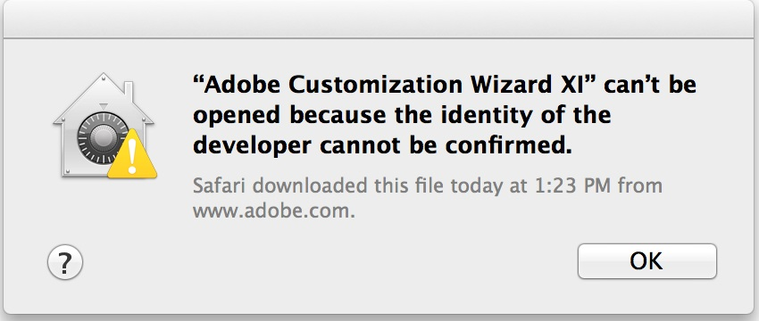 Adobe Customization Wizard error