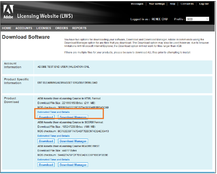 Download and Install eLearning Licensing Order