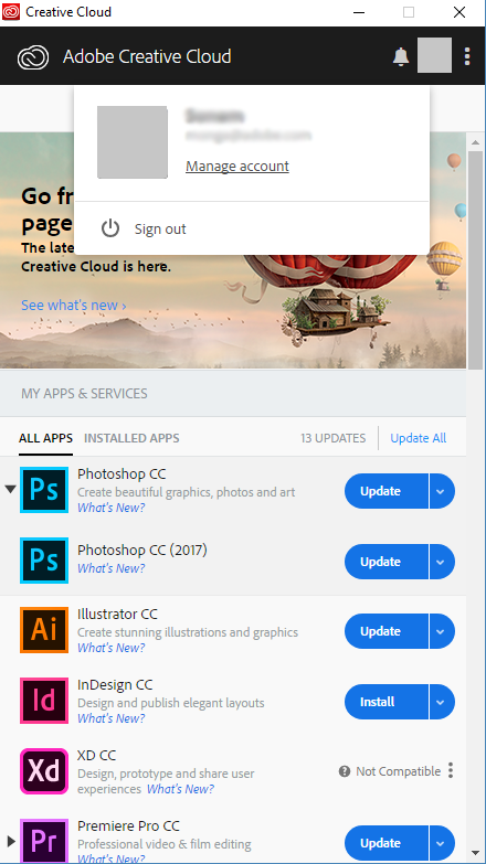 Creative Cloud Application