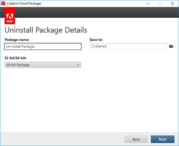 Uninstall Package Details