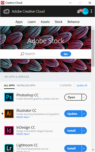 Creative Cloud Desktop Application