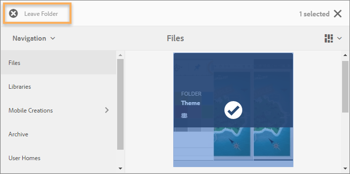 Leave a folder or library to stop collaboration