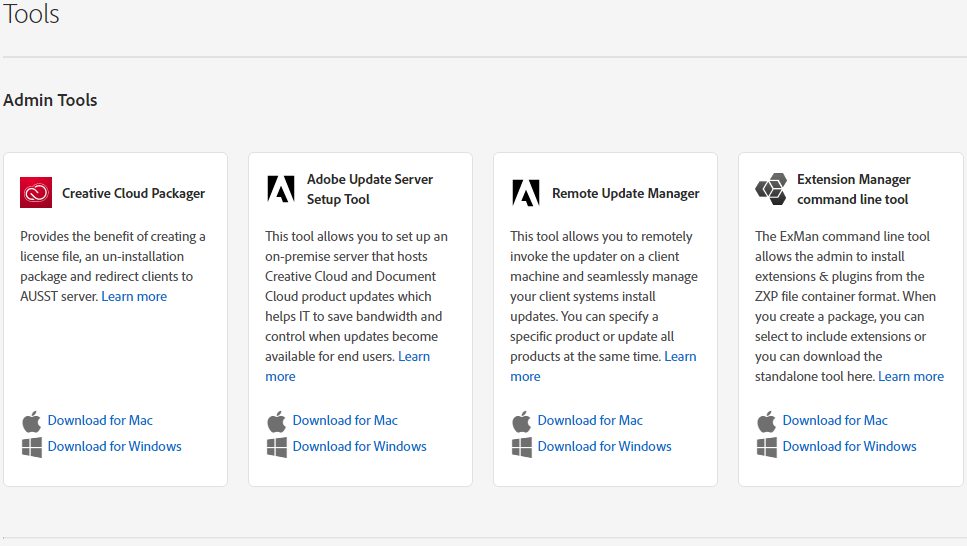 Choose Creative Cloud Packager