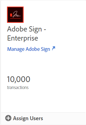 Adobe Sign card